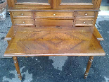 Antique Louis Philippe Desk Bookcase Bureau in walnut - 19th-18