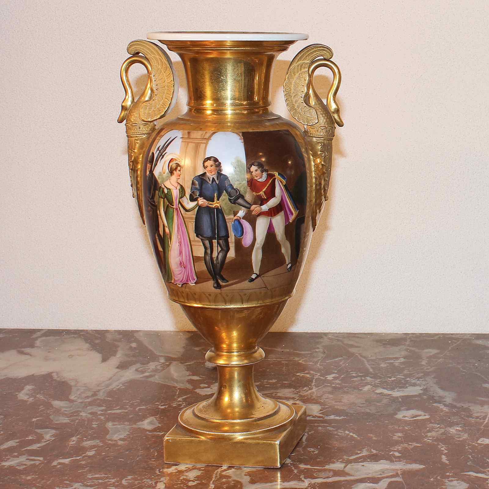 Coppia di vasi antichi in porcellana policroma periodo xix for Vasi antichi
