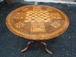 Antique Louis Philippe Table in walnut inlaid - Italy 19th-3