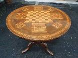 Ancien Table Louis Philippe noyer marqueterie - Italie 19ème-3