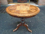 Antique Louis Philippe Table in walnut inlaid - Italy 19th-1