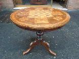 Ancien Table Louis Philippe noyer marqueterie - Italie 19ème-1