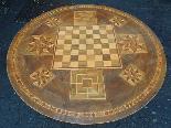 Ancien Table Louis Philippe noyer marqueterie - Italie 19ème-7