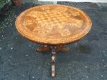 Ancien Table Louis Philippe noyer marqueterie - Italie 19ème-4