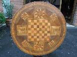 Ancien Table Louis Philippe noyer marqueterie - Italie 19ème-6