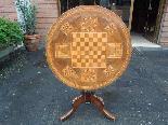 Ancien Table Louis Philippe noyer marqueterie - Italie 19ème-5