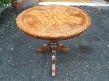 Ancien Table Louis Philippe noyer marqueterie - Italie 19ème-2