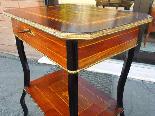 Antico Tavolino Napoleone III intarsiato - XIX secolo-10