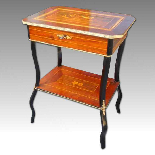 Antique Napoleon III small Table Bedside inlaid-19th century-17