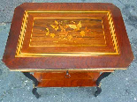 Antique Napoleon III small Table Bedside inlaid-19th century-16