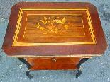 Antico Tavolino Napoleone III intarsiato - XIX secolo-16