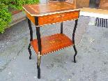 Antico Tavolino Napoleone III intarsiato - XIX secolo-1