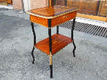 Antique Napoleon III small Table Bedside inlaid-19th century-3