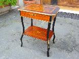 Antico Tavolino Napoleone III intarsiato - XIX secolo-2