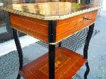 Antico Tavolino Napoleone III intarsiato - XIX secolo-9