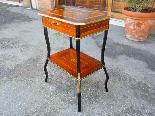 Antico Tavolino Napoleone III intarsiato - XIX secolo-4