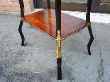 Antique Napoleon III small Table Bedside inlaid-19th century-12