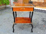 Antique Napoleon III small Table Bedside inlaid-19th century-5