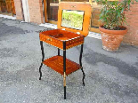 Antique Napoleon III small Table Bedside inlaid-19th century-8