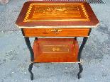Antico Tavolino Napoleone III intarsiato - XIX secolo-6