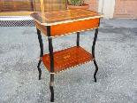 Antico Tavolino Napoleone III intarsiato - XIX secolo-13