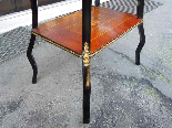 Antique Napoleon III small Table Bedside inlaid-19th century-11