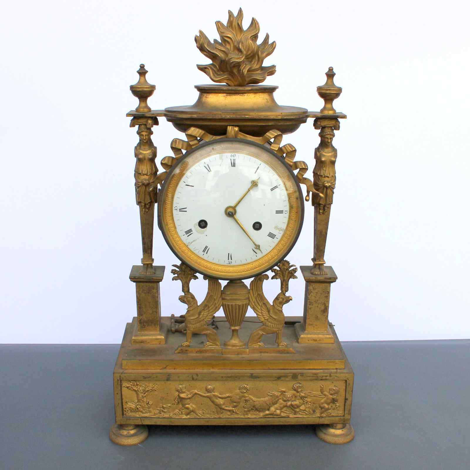 Старинные часы Таблица Первая Французская империя