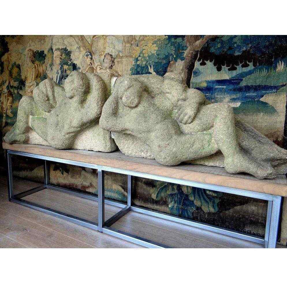Grande scultura in granito, XVII secolo