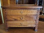 Antique miniature Commode Chest of drawers walnut Italy 19th-7