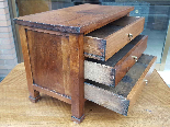 Antique miniature Commode Chest of drawers walnut Italy 19th-5