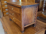 Antique miniature Commode Chest of drawers walnut Italy 19th-4