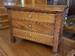 Antique miniature Commode Chest of drawers walnut Italy 19th-2
