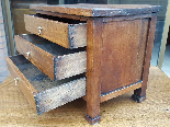 Antique miniature Commode Chest of drawers walnut Italy 19th-6