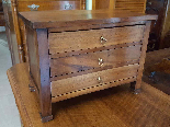 Antique miniature Commode Chest of drawers walnut Italy 19th-1