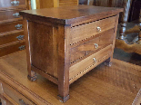 Antique miniature Commode Chest of drawers walnut Italy 19th-3