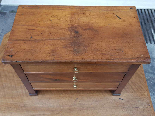 Antique miniature Commode Chest of drawers walnut Italy 19th-8