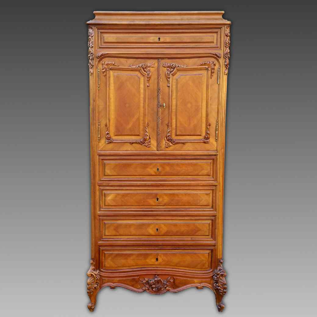 Antique Chest of drawers Cabinet in walnut - 19th