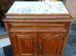 Antique Chest of drawers Cabinet in walnut - 19th-0