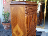 Antique Chest of drawers Cabinet in walnut - 19th-2