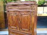 Antique Chest of drawers Cabinet in walnut - 19th-9
