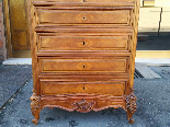 Antique Chest of drawers Cabinet in walnut - 19th-13