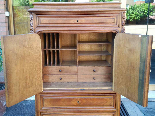 Antique Chest of drawers Cabinet in walnut - 19th-15