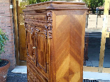 Antique Chest of drawers Cabinet in walnut - 19th-11