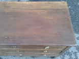 Antique Commode Chest of drawers in walnut - Italy 18th cent-14