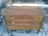 Antique Commode Chest of drawers in walnut - Italy 18th cent-5