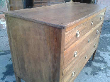 Antique Commode Chest of drawers in walnut - Italy 18th cent-7