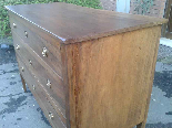 Antique Commode Chest of drawers in walnut - Italy 18th cent-8