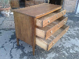 Antique Commode Chest of drawers in walnut - Italy 18th cent-3