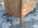 Antique Commode Chest of drawers in walnut - Italy 18th cent-9