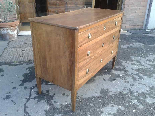 Antique Commode Chest of drawers in walnut - Italy 18th cent-1
